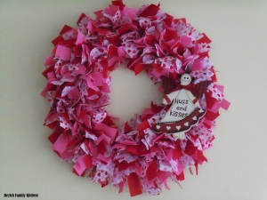 Valentines Day Rag Wreath