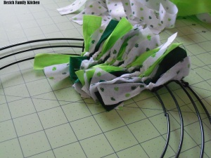 St. Patricks Day Rag Wreath
