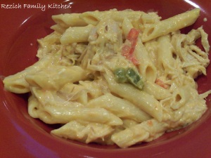 Crock Pot Buffallo Chicken Pasta